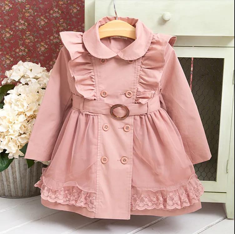 女童中长款风衣2021年新款春装洋气儿童英伦风时髦中大童公主外套