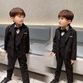 儿童西装套装男童花童礼服小孩西服秋冬英伦钢琴演出服帅气主持人
