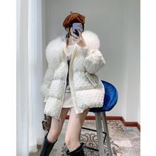韓國東大門大毛領羽絨服女2020年冬季中長款時尚寬松加厚保暖外套