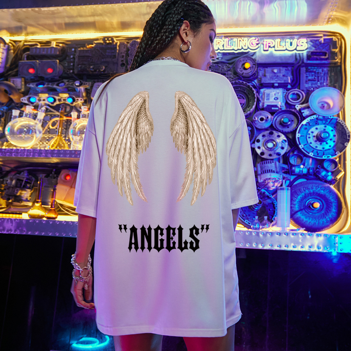 Tshirt ample  manches courtes Fashion Wing NHSN330463
