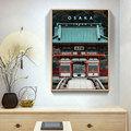 日本风景料理店装饰画日式风格和风街景壁画寿司日料店居酒屋挂画