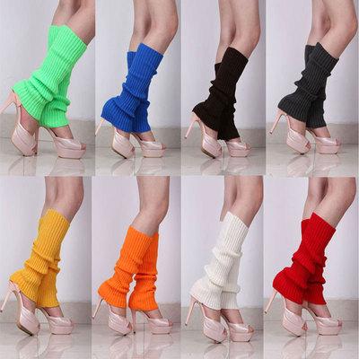 2pair women young girls latin belly modern practice dance Warm woolen colorful socks Female winter leg covers Pile of socks knitting Ankle sleeve socks