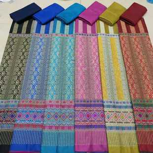 Manufacturers produce popular and fashionable Thai Laos skirt cloth cotton yarn suits can be mixed and matched in multiple colors