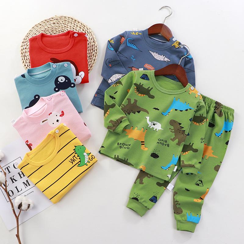 New Children's Clothing Autumn and Winter Children's Underwear Set Cotton Pajamas