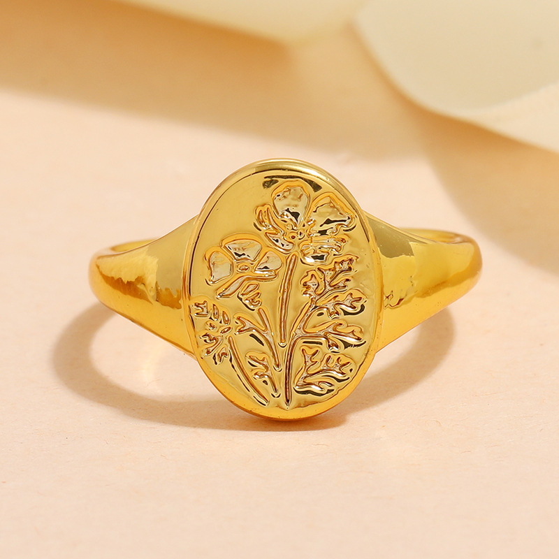 fashion alloy carved ring wholesale NHKQ341175
