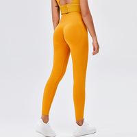 2021新款欧美跨境蜜桃臀瑜伽裤高腰裸感运动紧身裤无缝提臀健身裤