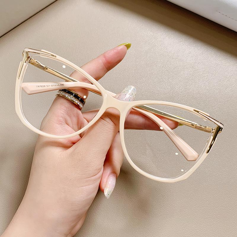 7858跨境欧美TR金属插针电脑护目眼镜框 渐变靓丽弹弓防蓝光眼镜
