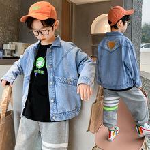 兒童裝春裝牛仔夾克2021新款男童春秋韓版中大童男孩上衣春季外套