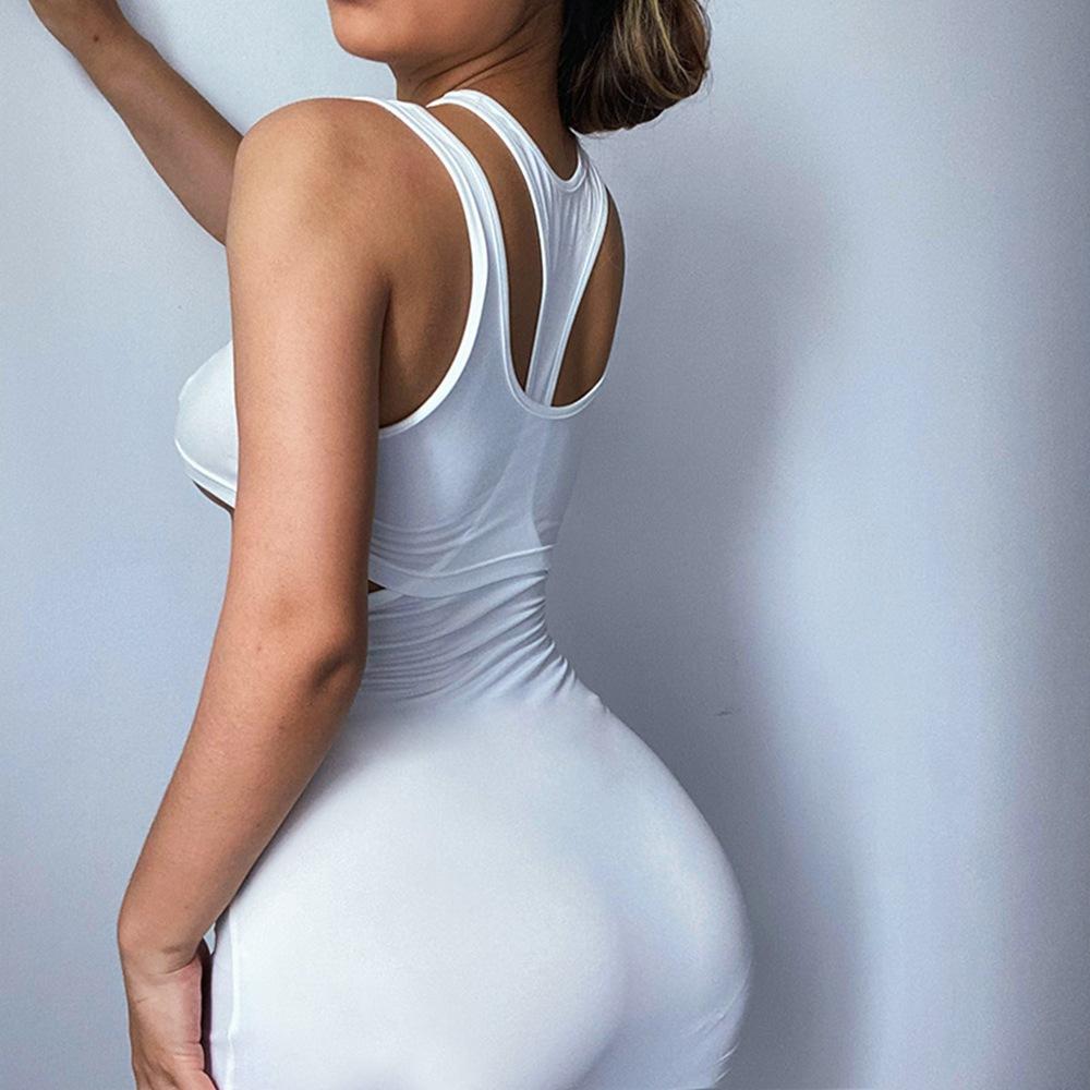 sleeveless hollow sexy short dress wholesale clothing vendor Nihaostyles NSXPF69921