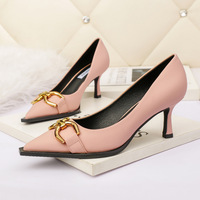 6899-3 han edition fashion pointed shallow mouth high-heeled shoes fine show thin banquet with professional OL sexy women's shoes for women's shoes