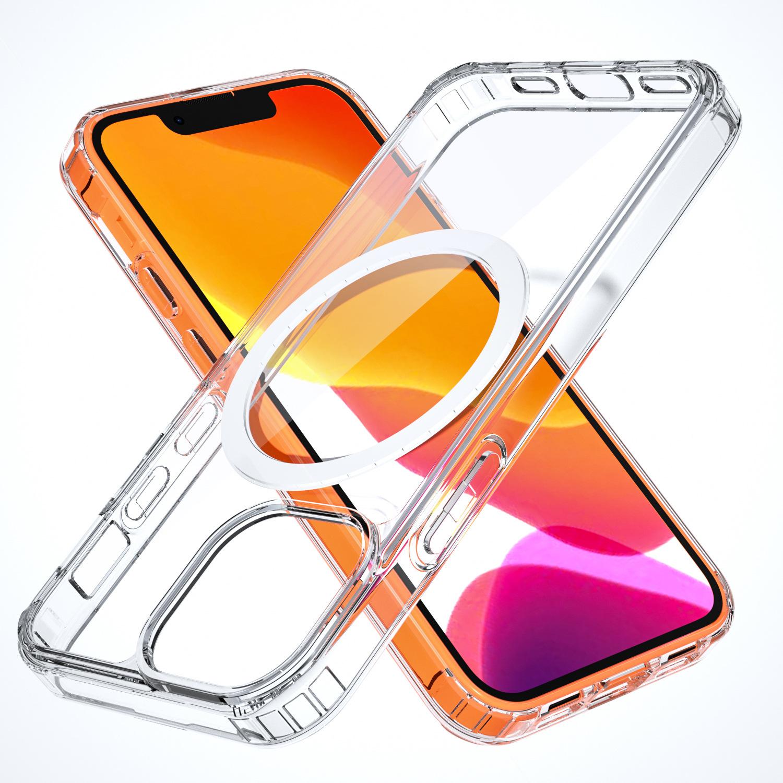新款适用于iPhone13 mini手机保护壳 户外防摔防尘两防磁吸保护套