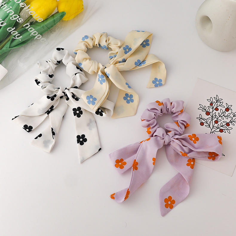 fashion flower bow hair scrunchies NHMS335909