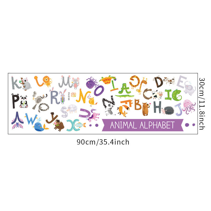 new simple English 26 letters wall stickers NHAF308429