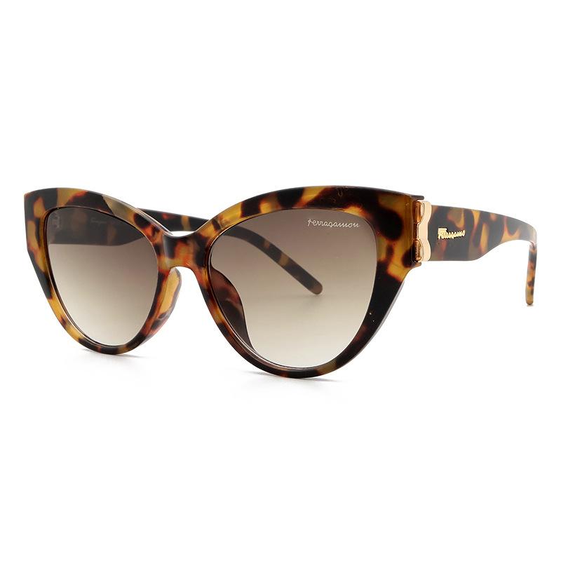 2021新款欧美小框猫眼时尚女士蝴蝶结太阳眼镜墨镜跨境sunglasses
