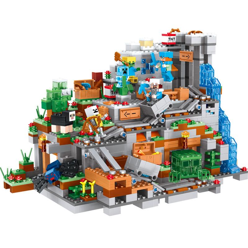 兼容乐高积木我的世界小颗粒儿童拼装益智玩具男孩礼物批发厂家