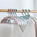 厂家批发简易折叠衣架收纳架可旋转衣服架子家用防滑塑料无痕衣架