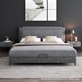 北欧简约现代布艺床1.8米双人床极简主卧可拆洗小户型布床