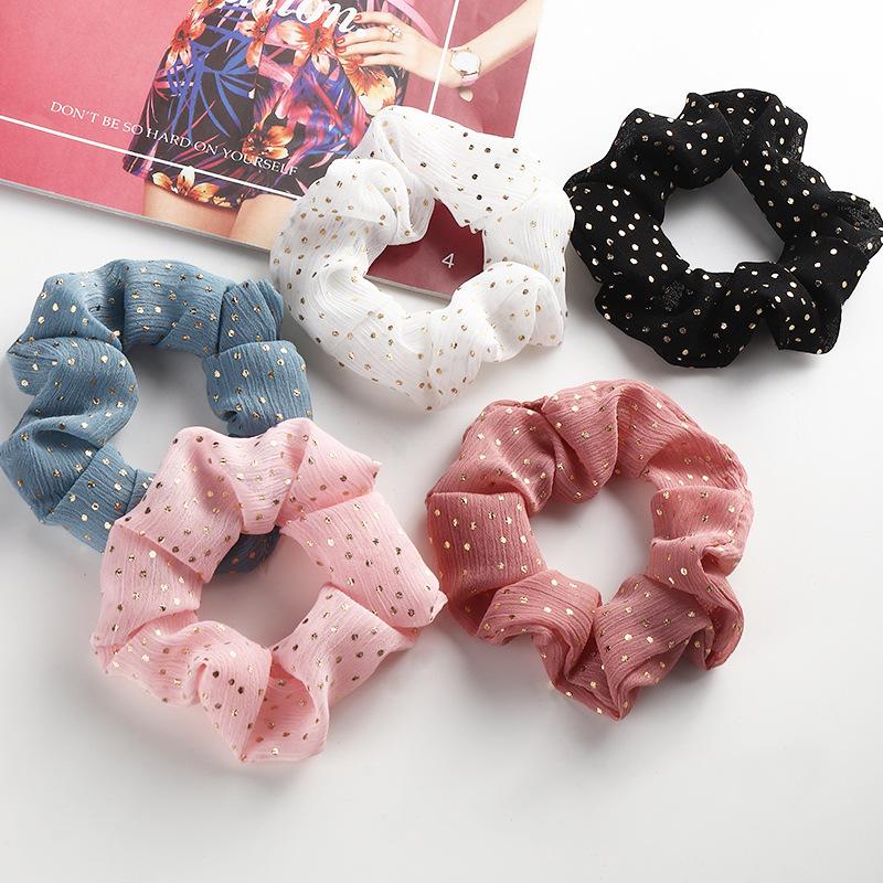 Korean fashion dots hair scrunchies  NHAU317549
