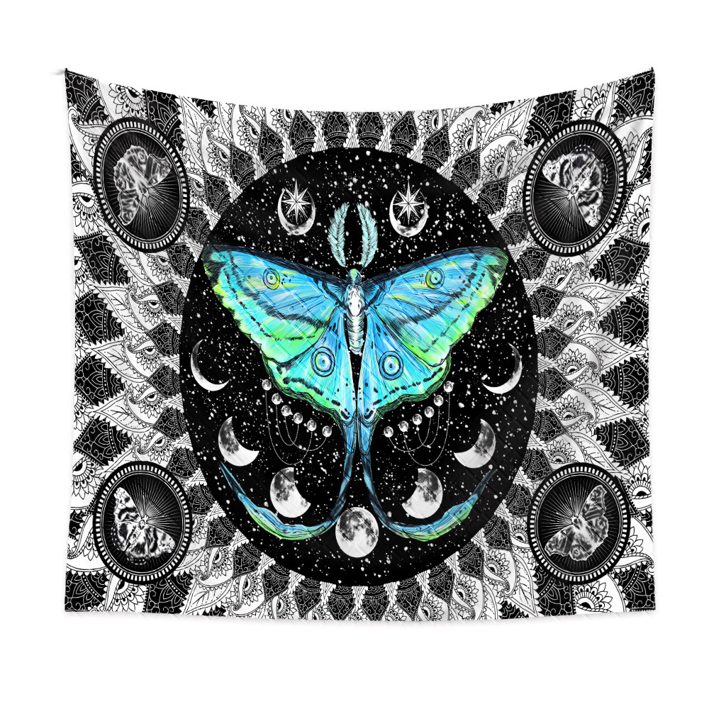 bohemian style color butterfly plants pattern room decoration tapestry wholesale nihaojewelry  NHQYE425189