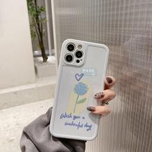 ins简约花朵苹果12手机壳11全包X硅胶iPhone彩绘8p适用女12Promax
