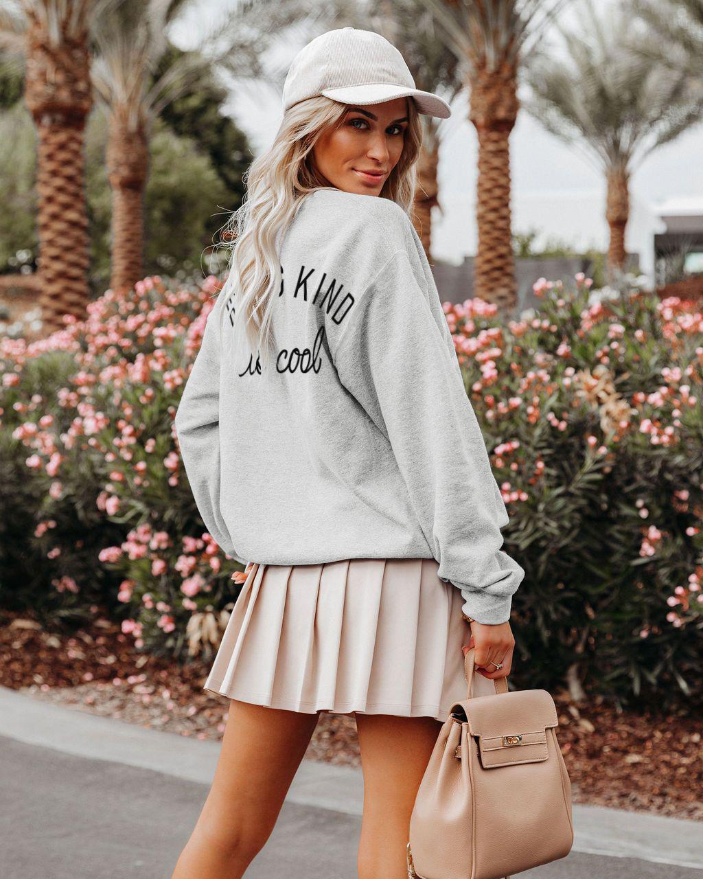 Round Neck Long Sleeve Pullover Sweatshirt nihaostyles clothing wholesale NSMDF81547