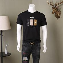 2021夏季新款男裝短袖T恤休閑男青年夏天短袖字母印花時尚男裝