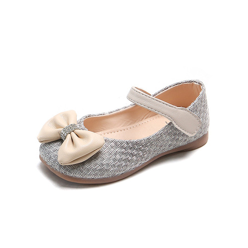 Girls bow princess fairy drama performance shoes Baby soft-soled shoes student chorus performance shoes