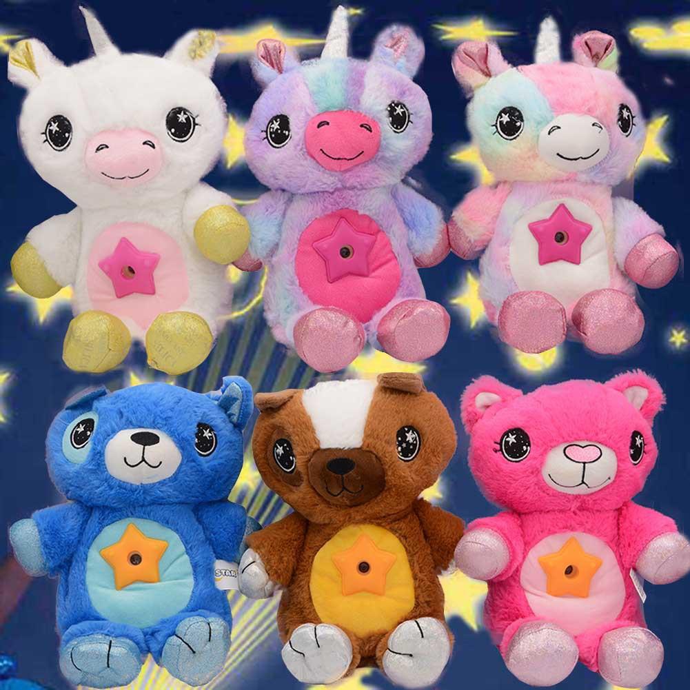Star Belly Dream Lites 跨境儿童动物星空投影灯安睡灯毛绒玩具