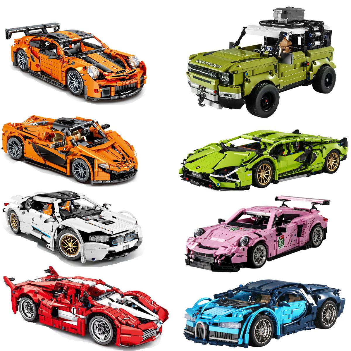 S牌车款系列车展完美大全拼装积木儿童玩具模型兼容乐高礼物DIY