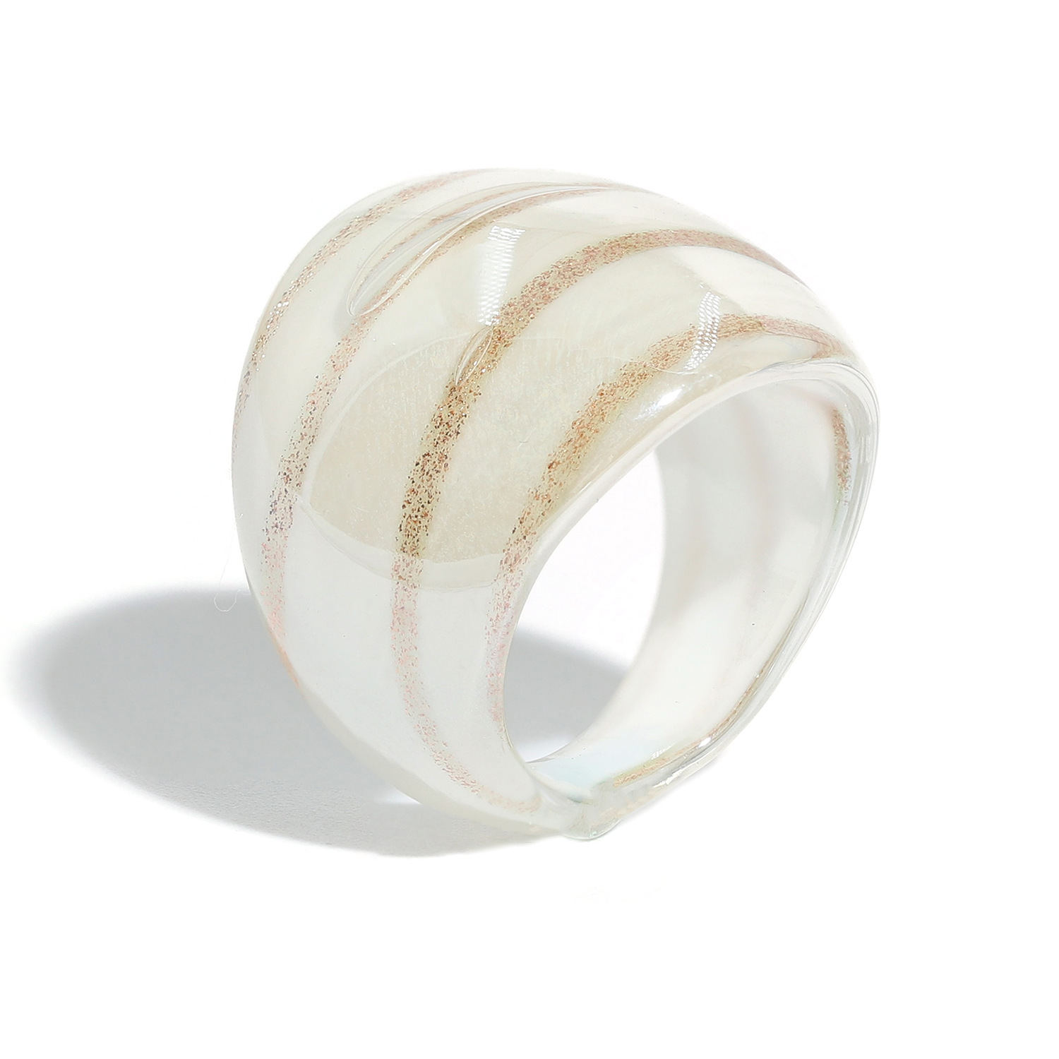 fashion golden texture colored glaze ring  NHJQ336279