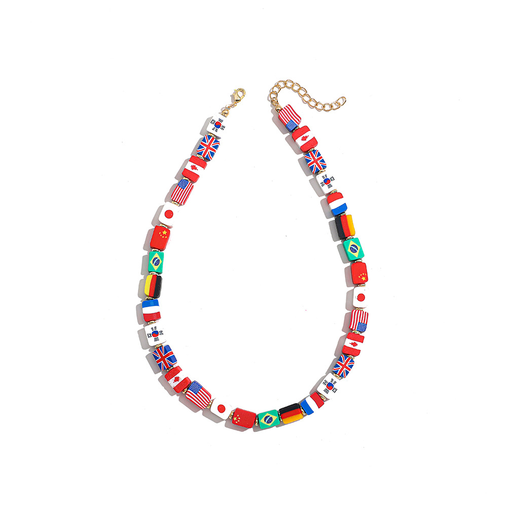nihaojewelry simple colorful fruit rice bead pearl necklace wholesale jewelry NHLL378481