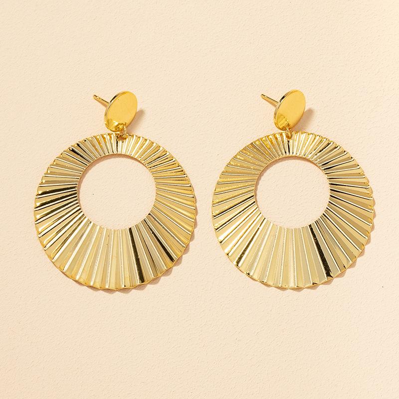 fashion metal big earrings  NHGU308065