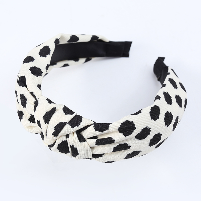 Korean polka dot plaid headband  NHWB336869