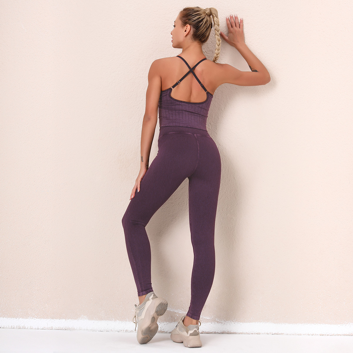seamless knitting running sports fitness suit  NSNS34108
