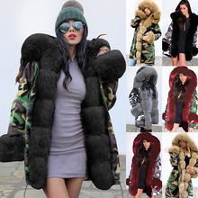 Women winter cotton padded clothes ladies warmth hooded coat