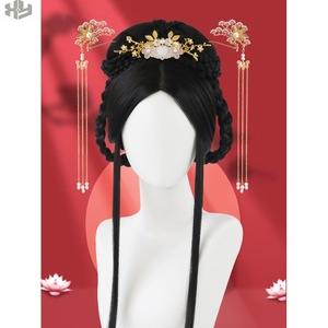 Ancient Hanfu wig women full head cover long hair false hair full head cover Xianqi Hanfu false hair customization