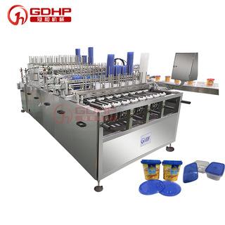 高速奶油膏粘稠液体灌装封盖生产线