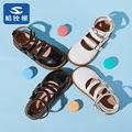 哈比熊时尚女童公主鞋2021春季新款包头学生休闲软底单鞋儿童皮鞋