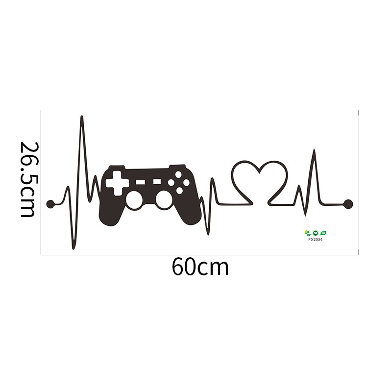 Fashion game handle GRME game console wall stickers wholesale NHAF337012