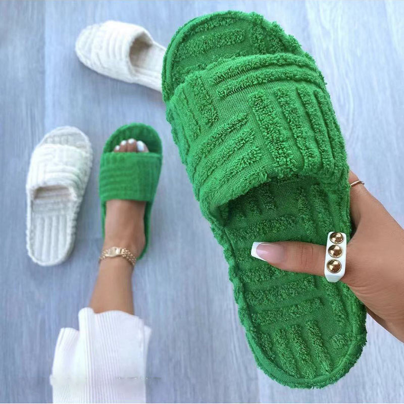 Autumn and Winter Thick-soled Fur Slippers Women