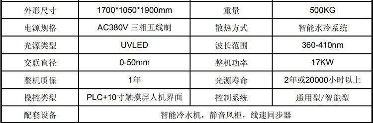 紫外线光低烟无卤线材辐照交联设备UVLED聚乙烯电缆辐射交联机器