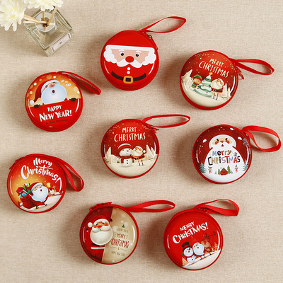 5pcs Christmas gift children cartoon coin purse Christmas decorations cute toys kindergarten new year gifts