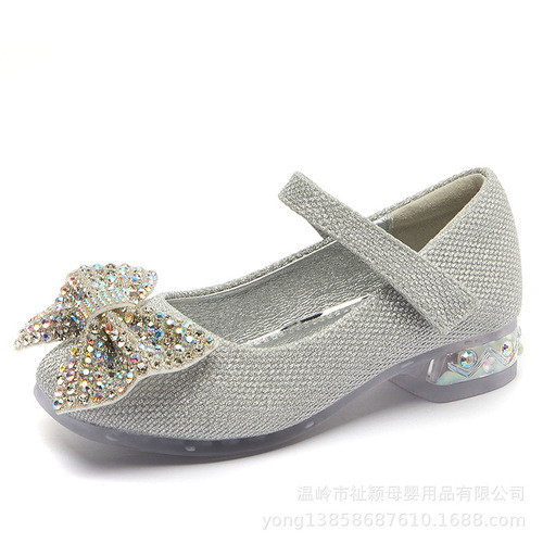 Girls princess host singers performance shoes children princess shoes soft sole little girl crystal shoes baby shoes children performance shoes