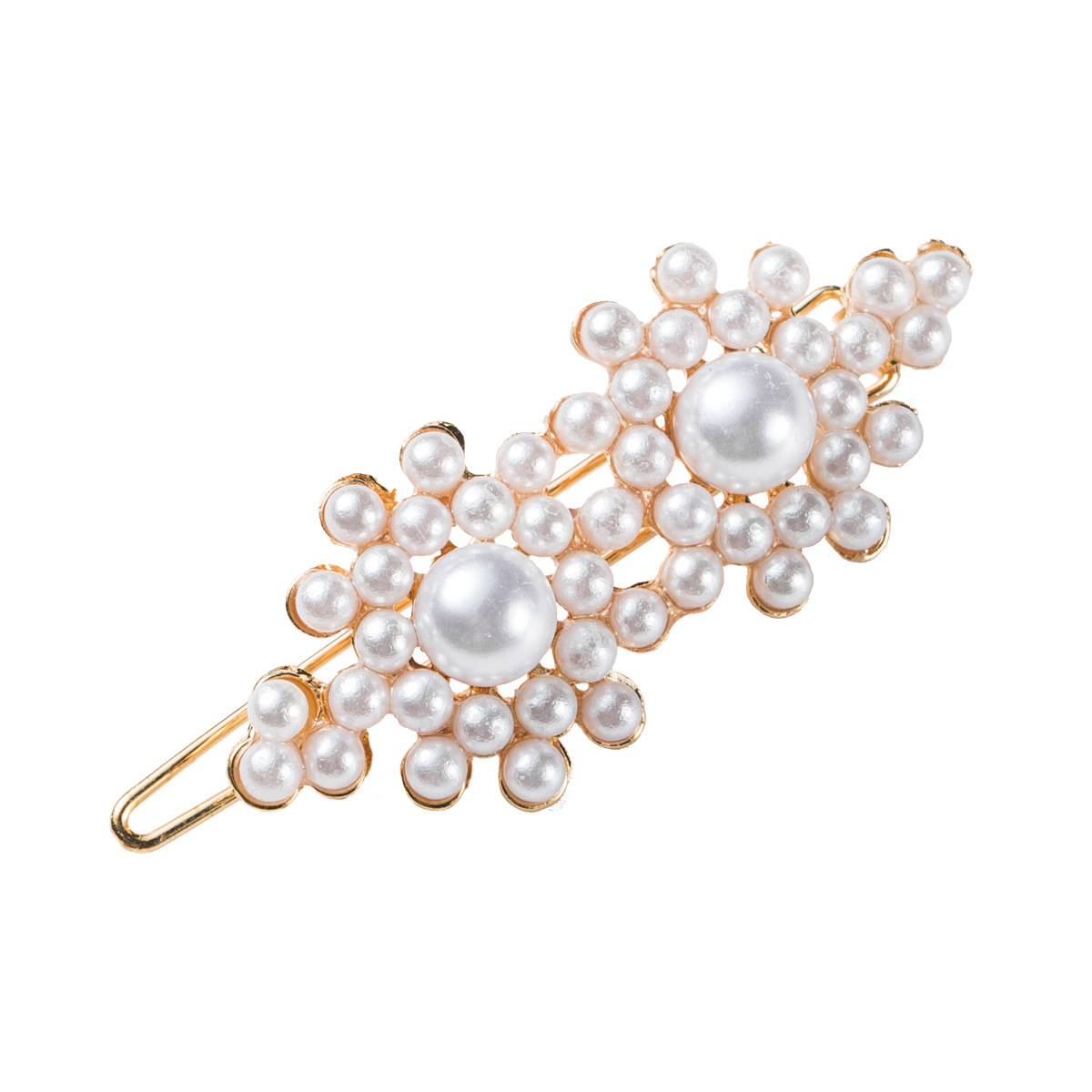 fashion creative leopard flannel inlaid pearl shell hairpin NHJE311253