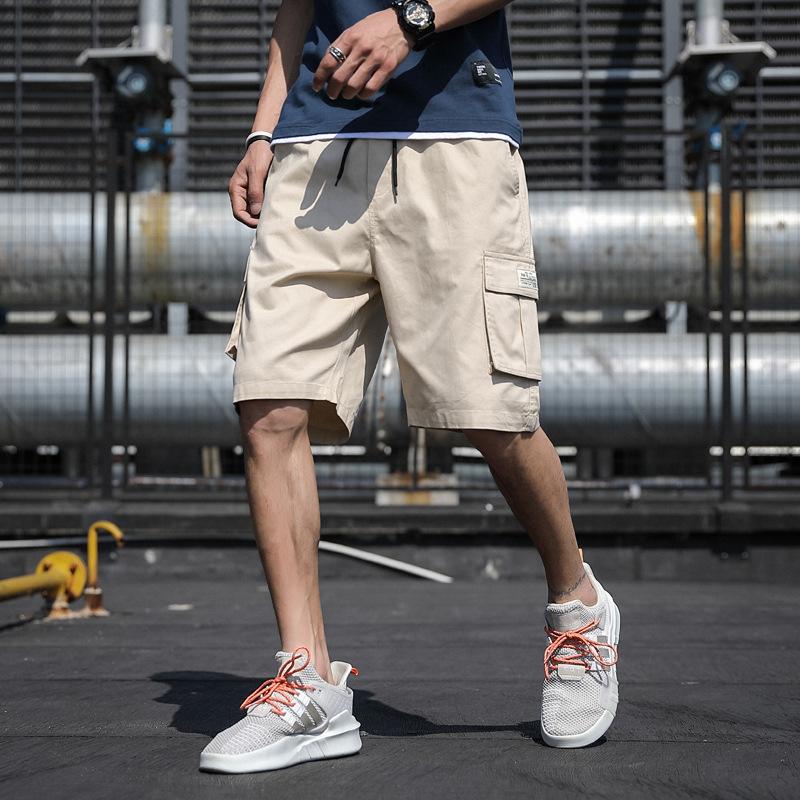 短裤男士夏季2021韩版五分裤休闲潮流外穿沙滩运动裤学生工装裤