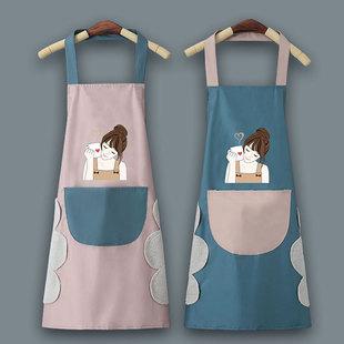 Фартук домой кухня лето женский геометрическом Масло работа Одежда оптовая торговля Приготовление поясов красный в этом же моделье 2021 новый