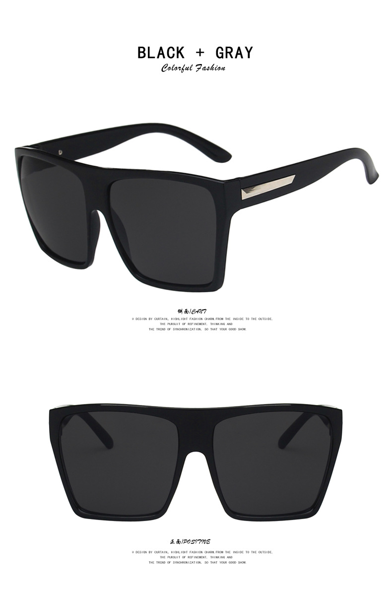 fashion square big frame sunglasses  NHKD302179