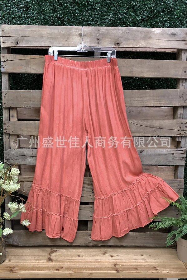 速卖通wish亚马逊欧美跨境春夏新款波西米亚休闲度假风沙滩裙裤