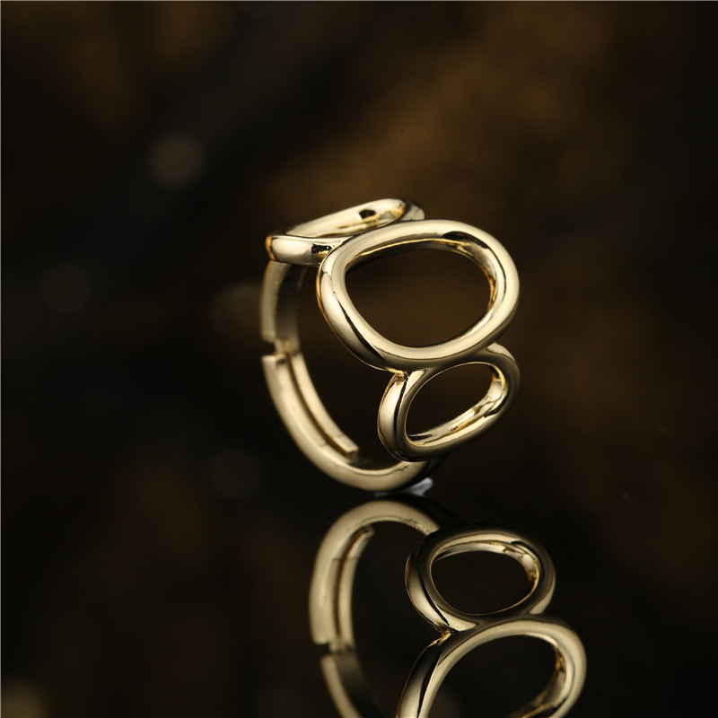 simple hollow geometric shape opening ring NHFMO369156