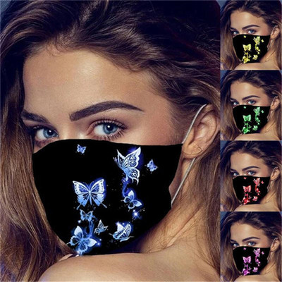 2pcs Butterfly personality pattern Reusable Face Masks dust proof cotton Face Masks printing Reusable Masks